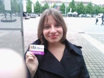 il mio biglietto da relatrice ed io